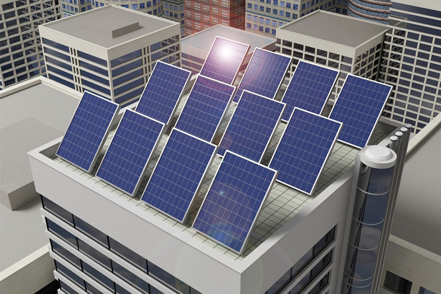 Solar Panel at Office Building,